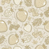 Background with  strawberry and  blackberry Royalty Free Stock Images