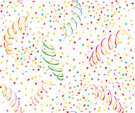 Background with  streamer and confetti Stock Image
