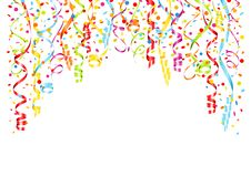 Background Streamers And Confetti Horizontal vector illustration