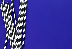 Background of Striped drink straws royalty free stock photography