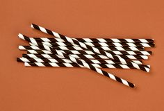 Background of Striped drink straws royalty free stock images