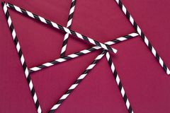 Background of Striped drink straws stock image