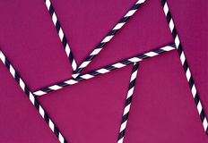 Background of Striped drink straws stock photography