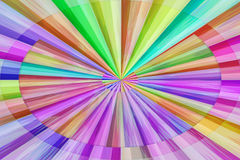 Background striped ellipse. Abstract background illustration contains ellipses and elongated faceted rhombuses and made in the light of rainbow colors Stock Image