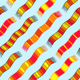 Background with striped scarves.  Seamless vector pattern. Stock Photography