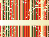 Background with stripes. Colorful background with stripes and butterflies Royalty Free Illustration