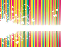 Background with stripes. Colorful floral background with stripes Vector Illustration