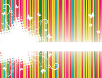 Background with stripes. Colorful floral background with stripes Royalty Free Illustration
