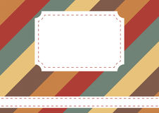 Background with stripes and blank label Royalty Free Stock Photos