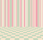 Background with stripes and checkered pastel colors Royalty Free Stock Photo