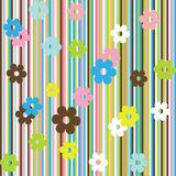Background with stripes and flowers royalty free illustration