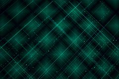 Background with stripes and particles. Abstract green technologic background with stripes and particles 3d render Stock Image
