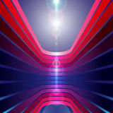 Background with stripes in perspective with optica Stock Photography