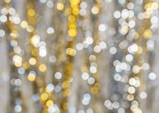 Background of strongly blurred lights of garlands royalty free stock photo