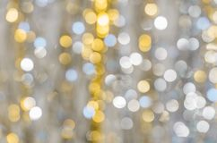 Background of strongly blurred lights of garlands. Christmass Royalty Free Stock Photo