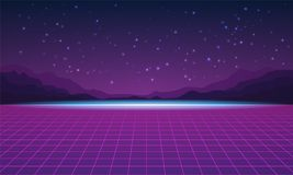 Background in style arcades the 80s. Vector illustration. Background in style arcades the 80s. Music poster template. Vector illustration Royalty Free Stock Image