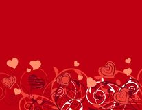 Background with stylixed plants and hearts Stock Images
