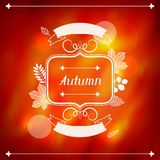 Background of stylized autumn leaves for greeting Stock Photo
