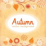 Background of stylized autumn leaves for greeting cards Royalty Free Stock Photo