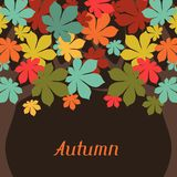 Background of stylized autumn trees for greeting Royalty Free Stock Photography