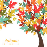 Background of stylized autumn trees for greeting Royalty Free Stock Images