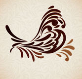 Background with stylized bird Royalty Free Stock Photos
