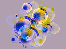 Background of stylized bubbles. Design of background from the stylized bubbles vector illustration