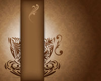 Background with stylized coffee cup Royalty Free Stock Photography