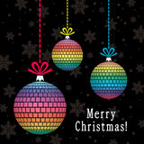 vector background with stylized colorful balls Stock Photography