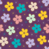 Background with stylized flowers. Background with stylized colored flowers Stock Images