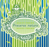 Background of a stylized green tree Royalty Free Stock Photos