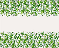 Background of stylized leaves Stock Photography