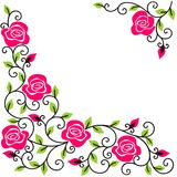 Background with the stylized roses. Stylised roses on a white background Stock Photos