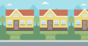 Background of suburban house. Royalty Free Stock Photo