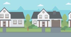 Background of suburban houses. Stock Image