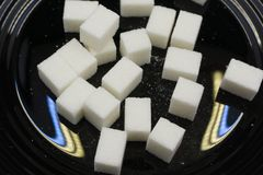 Background of sugar cubes crystalline culinary delicious dental,. Background of sugar cubes crystalline culinary delicious dental Royalty Free Stock Image