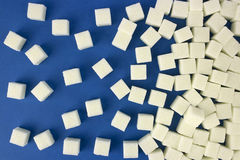 Background of sugar cubes. Natural Stock Image