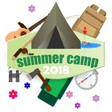 Background for summer camp Stock Images