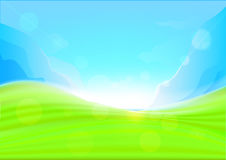 Background summer with glaring sun. Stock Image
