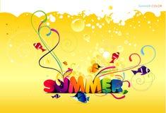 Background summer illustration Royalty Free Stock Image