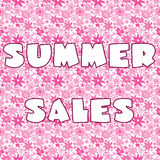 Background with Summer Sales Royalty Free Stock Photos