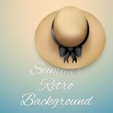 Background of summer time and beach Hat Stock Images