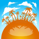 Background Summer traveling frame royalty free stock photos