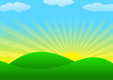 Background with sun Royalty Free Stock Images