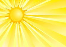 Background with sun. Stock Photography