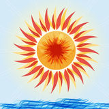 Background Sun. Colorful sunny background illustration,abstract design Royalty Free Stock Photo