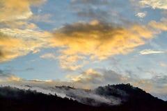 Background sun filtered cloudscape Stock Photo
