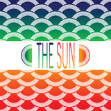 Background of the sun Royalty Free Stock Image
