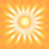 Background with sun and rays Stock Photos