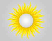Background with sun and round space for your text Stock Image